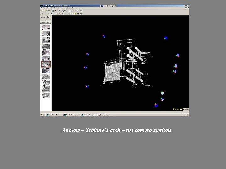 Ancona – Traiano's arch – the camera stations