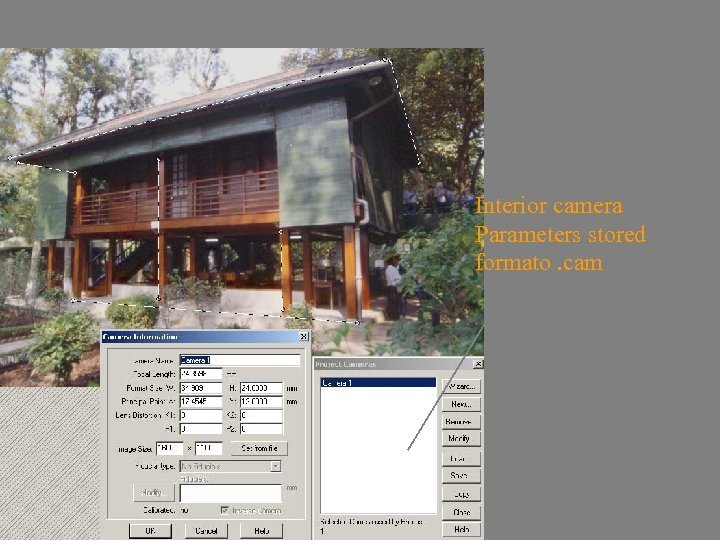 inverse Camera Interior camera Parameters stored formato. cam