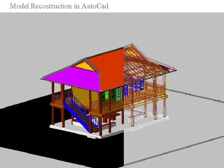Model Recostruction in Auto. Cad