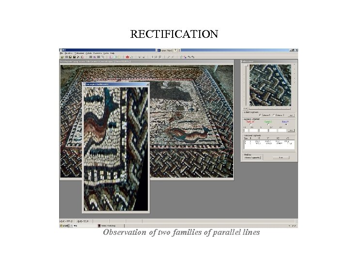 RECTIFICATION Observation of two families of parallel lines