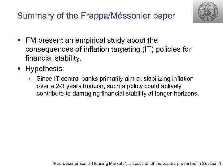 Summary of the Frappa/Méssonier paper § FM present an empirical study about the consequences