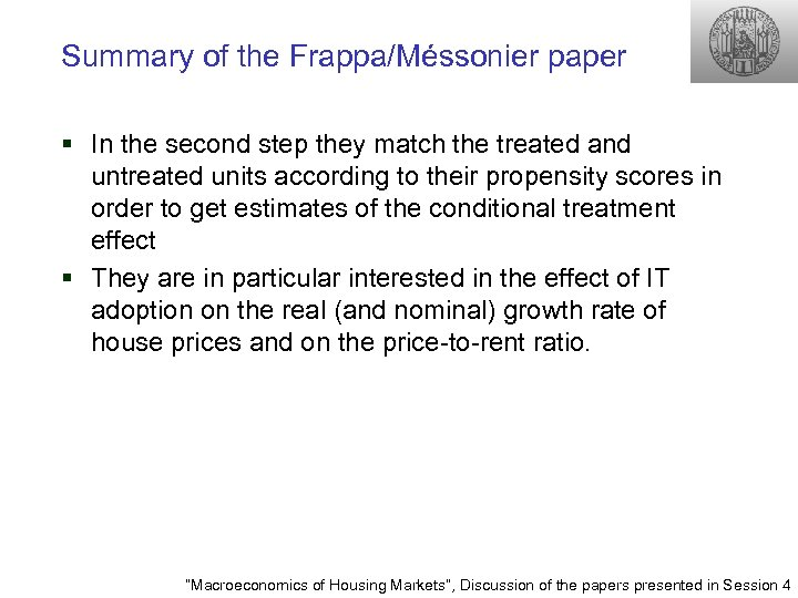 Summary of the Frappa/Méssonier paper § In the second step they match the treated