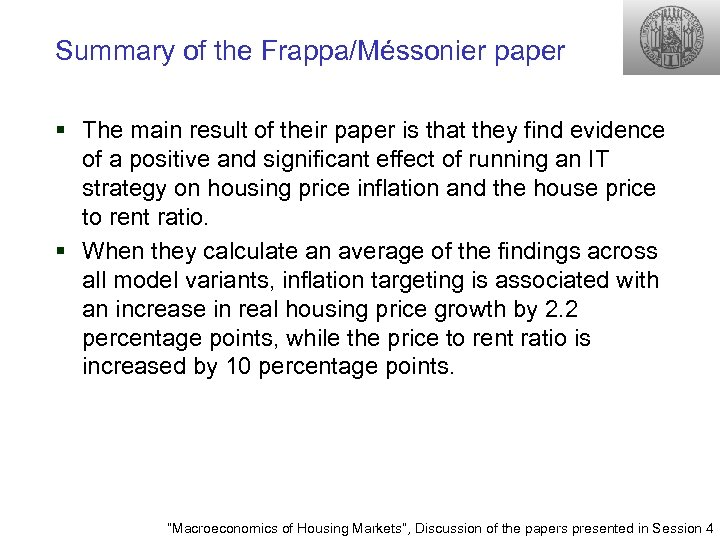 Summary of the Frappa/Méssonier paper § The main result of their paper is that