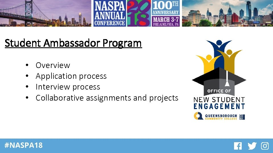 Student Ambassador Program • • Overview Application process Interview process Collaborative assignments and projects