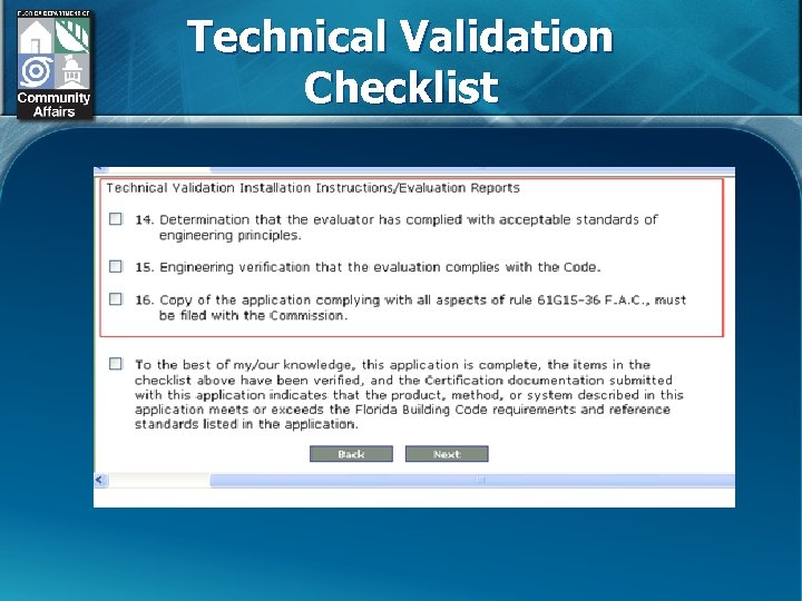 Technical Validation Checklist