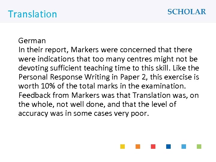 What would you like to learn? Translation German In their report, Markers were concerned