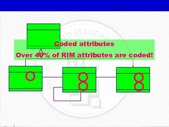 Coded attributes Over 40% of RIM attributes are coded!