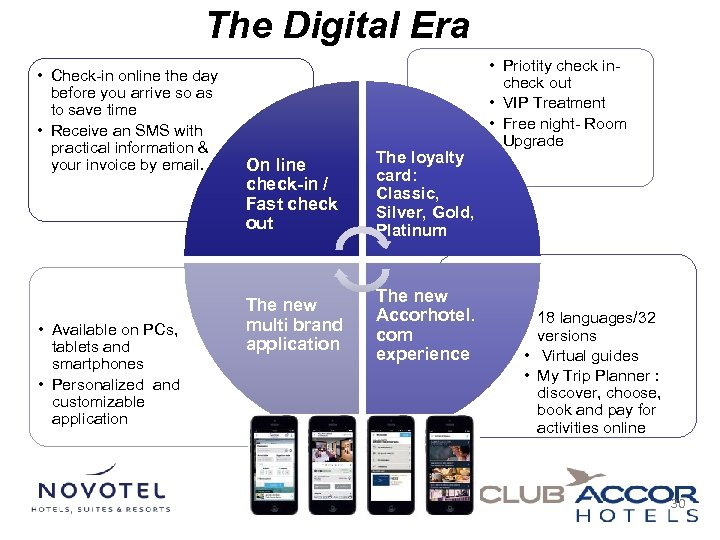 The Digital Era • Check-in online the day before you arrive so as to