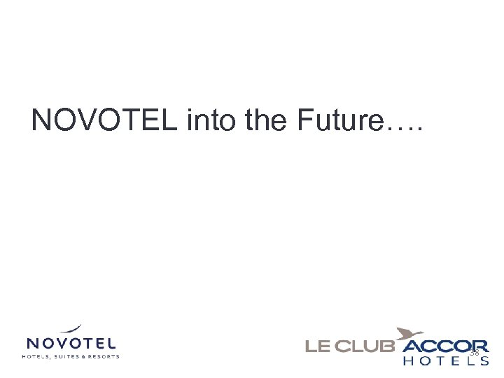 NOVOTEL into the Future…. 38