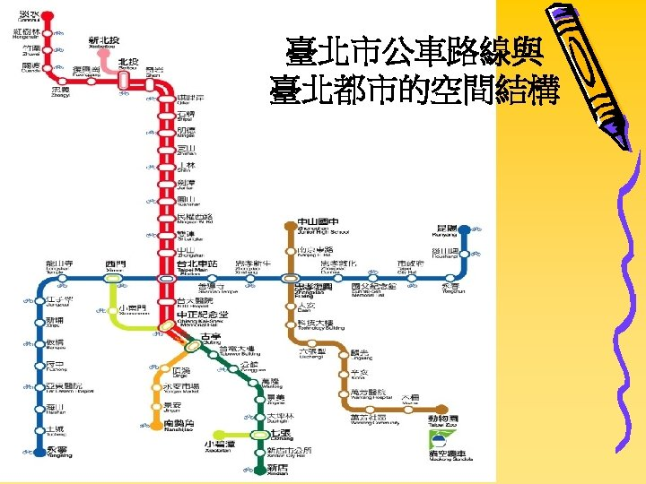臺北市公車路線與 臺北都市的空間結構