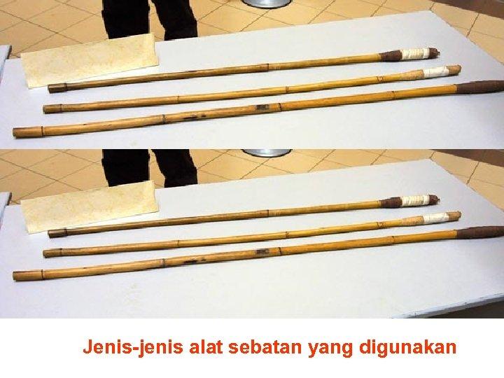 Jenis-jenis alat sebatan yang digunakan