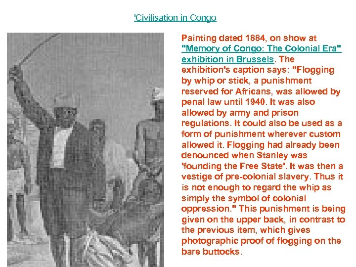 'Civilisation in Congo Painting dated 1884, on show at