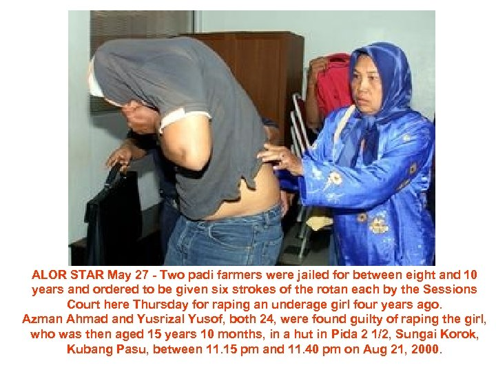 ALOR STAR May 27 - Two padi farmers were jailed for between eight and