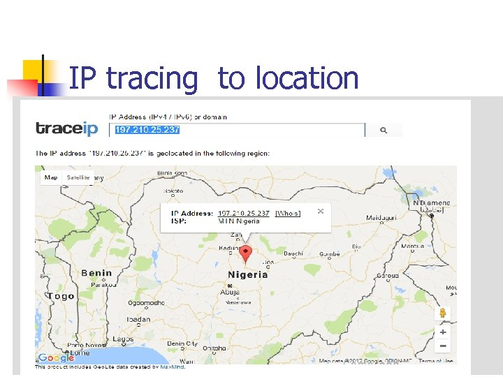 IP tracing to location