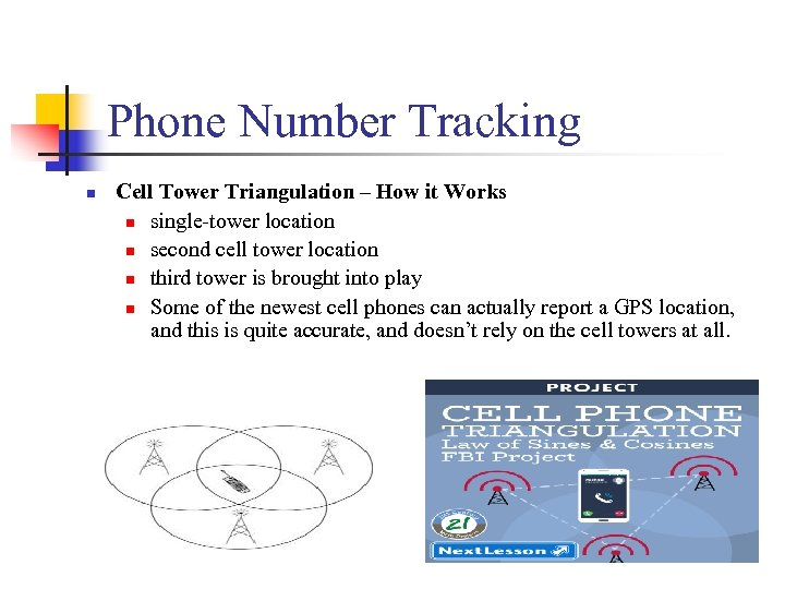 Phone Number Tracking n Cell Tower Triangulation – How it Works n single-tower location