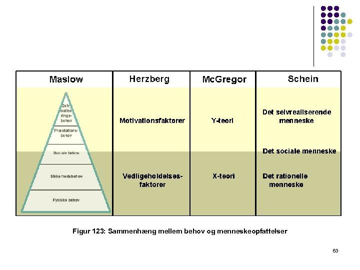 Figur 123: Sammenhæng mellem behov og menneskeopfattelser 63