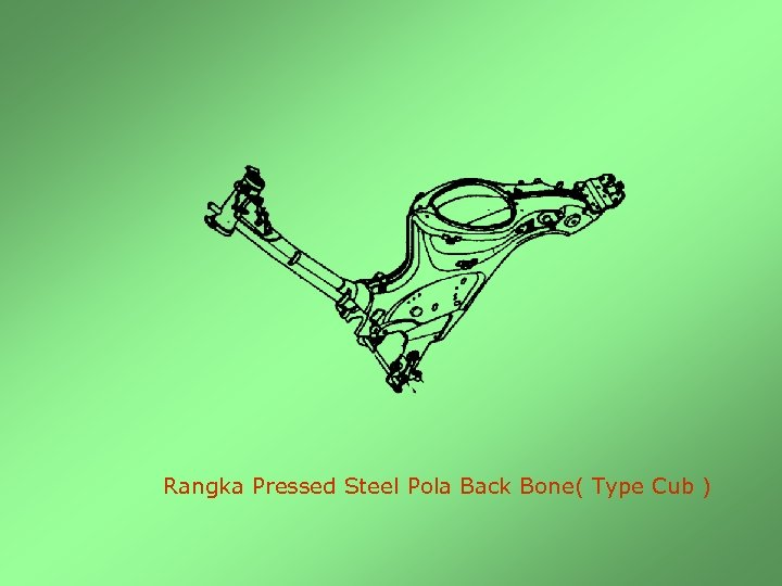 Rangka Pressed Steel Pola Back Bone( Type Cub )