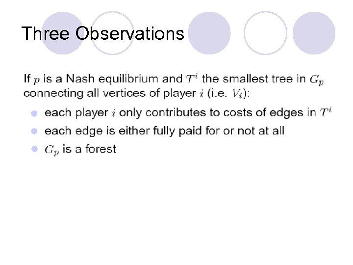 Three Observations