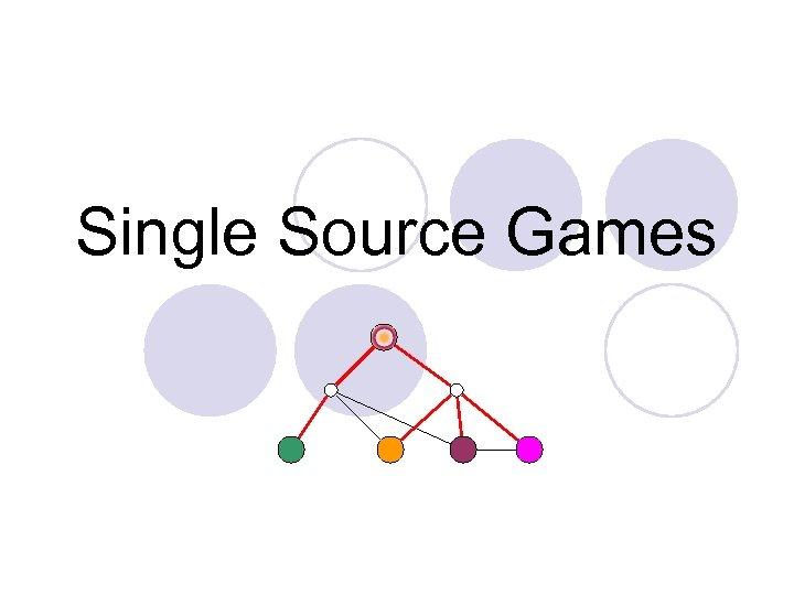 Single Source Games