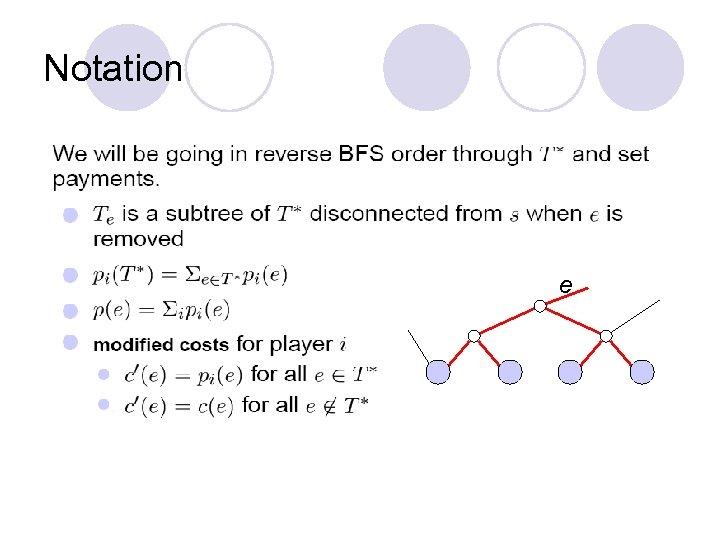 Notation e