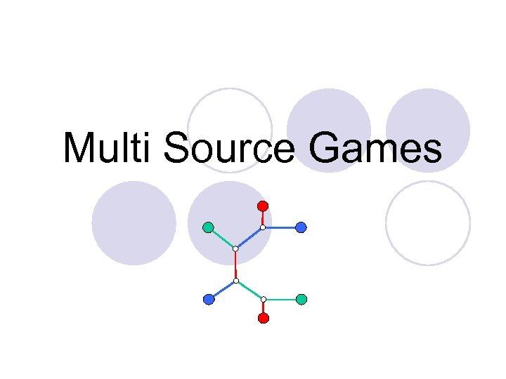 Multi Source Games