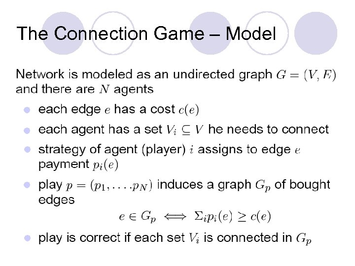 The Connection Game – Model