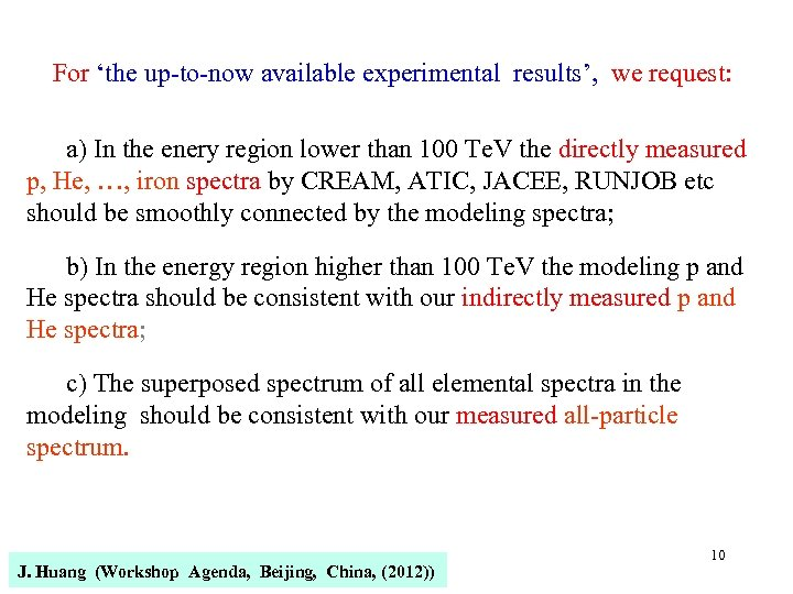 For 'the up-to-now available experimental results', we request: a) In the enery region