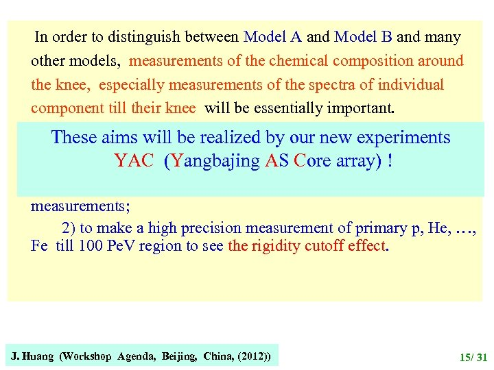 In order to distinguish between Model A and Model B and many other