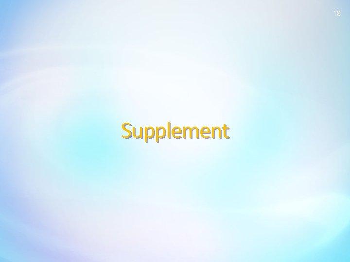 18 Supplement