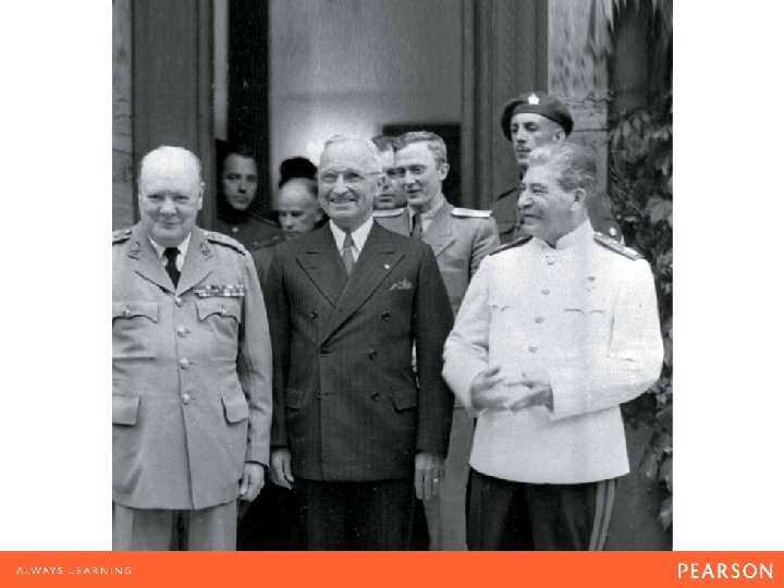 Churchill, Truman, and Stalin during the Potsdam Conference in July 1945.
