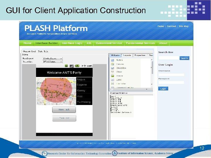 GUI for Client Application Construction 12