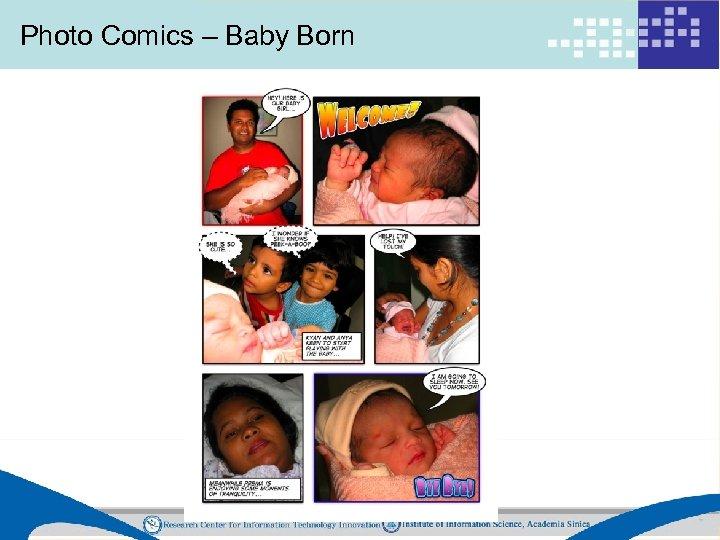 Photo Comics – Baby Born