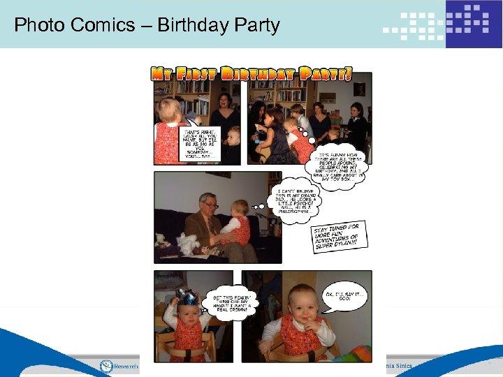 Photo Comics – Birthday Party