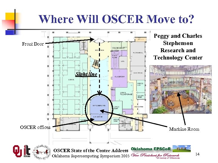 Where Will OSCER Move to? Peggy and Charles Stephenson Research and Technology Center Front