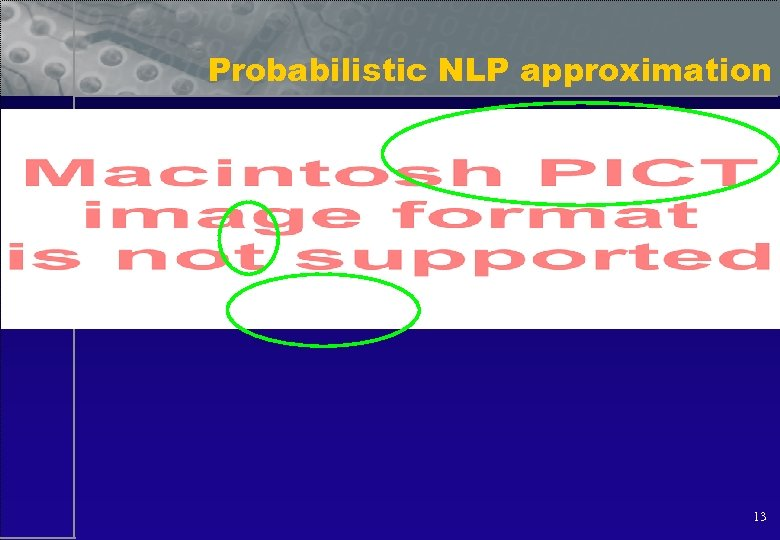 Probabilistic NLP approximation 13