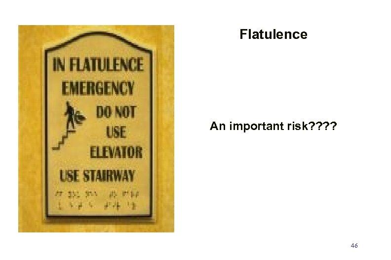 Flatulence An important risk? ? 46