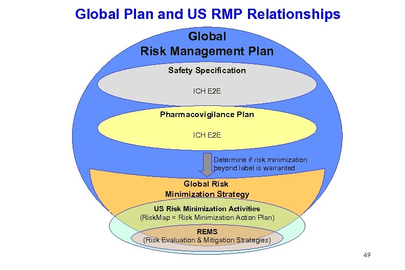 Global Plan and US RMP Relationships Global Risk Management Plan Safety Specification ICH E