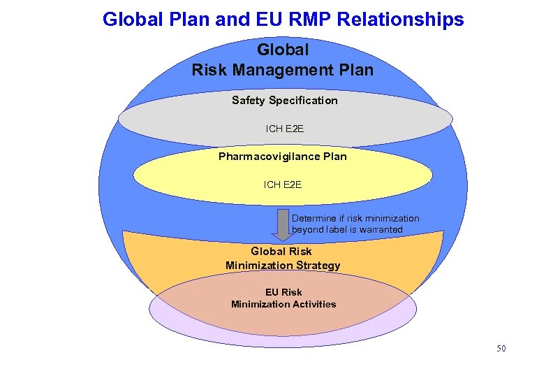 Global Plan and EU RMP Relationships Global Risk Management Plan Safety Specification ICH E