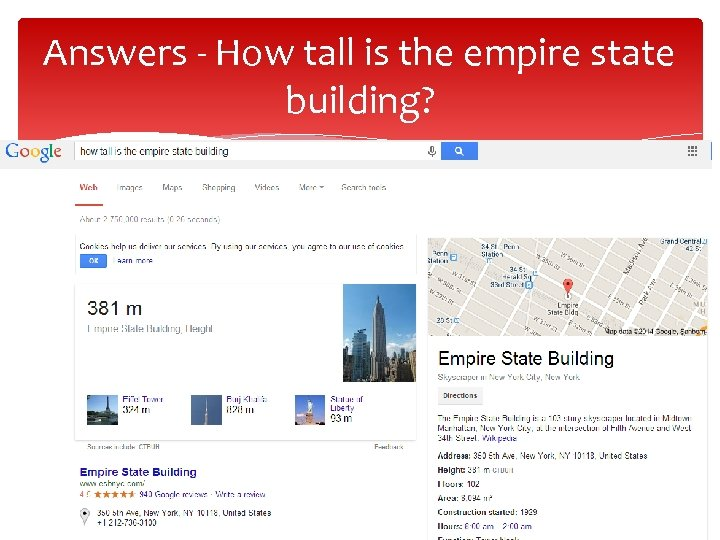 Answers - How tall is the empire state building?