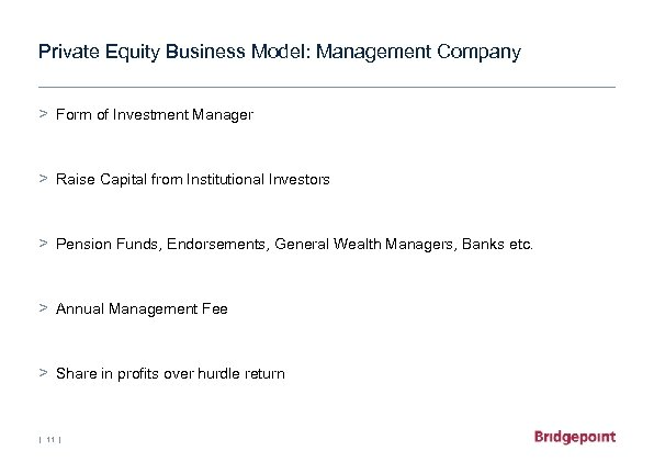 Private Equity Business Model: Management Company > Form of Investment Manager > Raise Capital