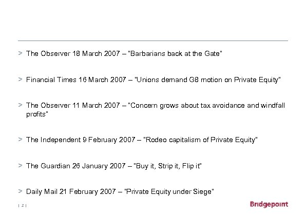 "> The Observer 18 March 2007 – ""Barbarians back at the Gate"" > Financial"