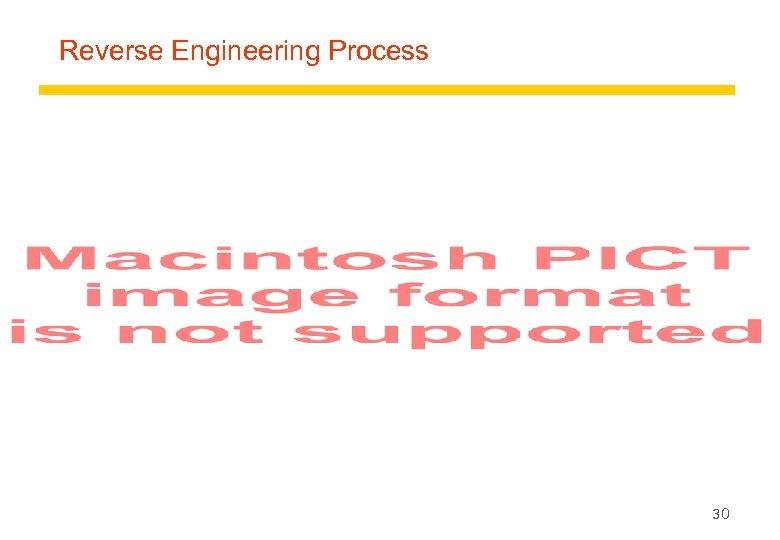 Reverse Engineering Process 30