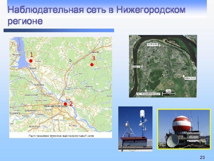 Наблюдательная сеть в Нижегородском регионе 23