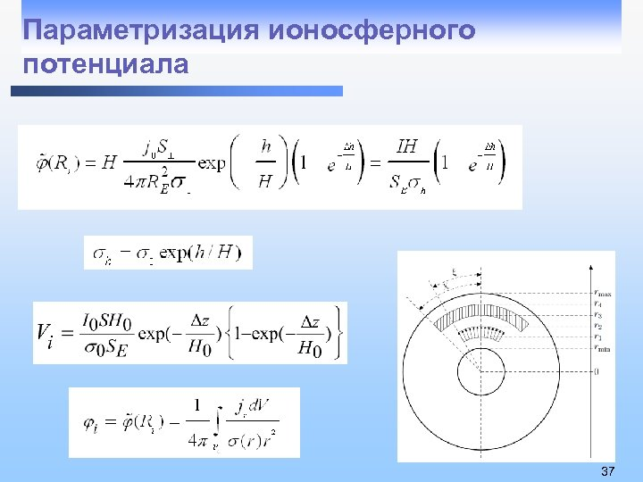 Параметризация ионосферного потенциала 37