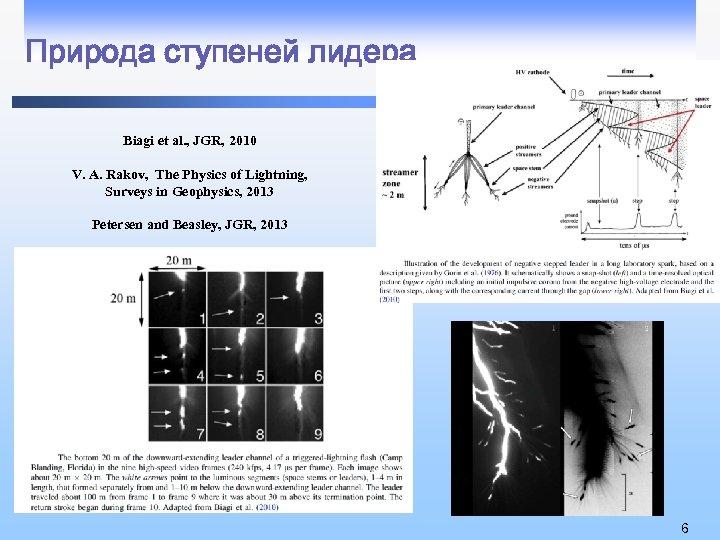 Природа ступеней лидера Biagi et al. , JGR, 2010 V. A. Rakov, The Physics