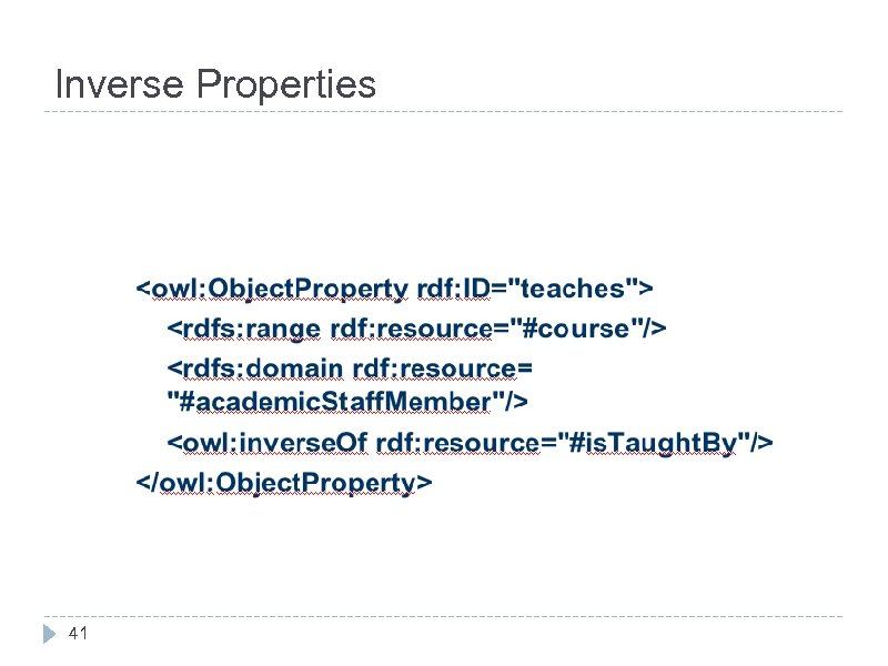 Inverse Properties 41