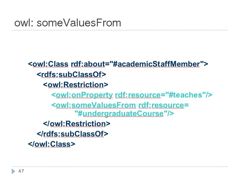 owl: some. Values. From 47