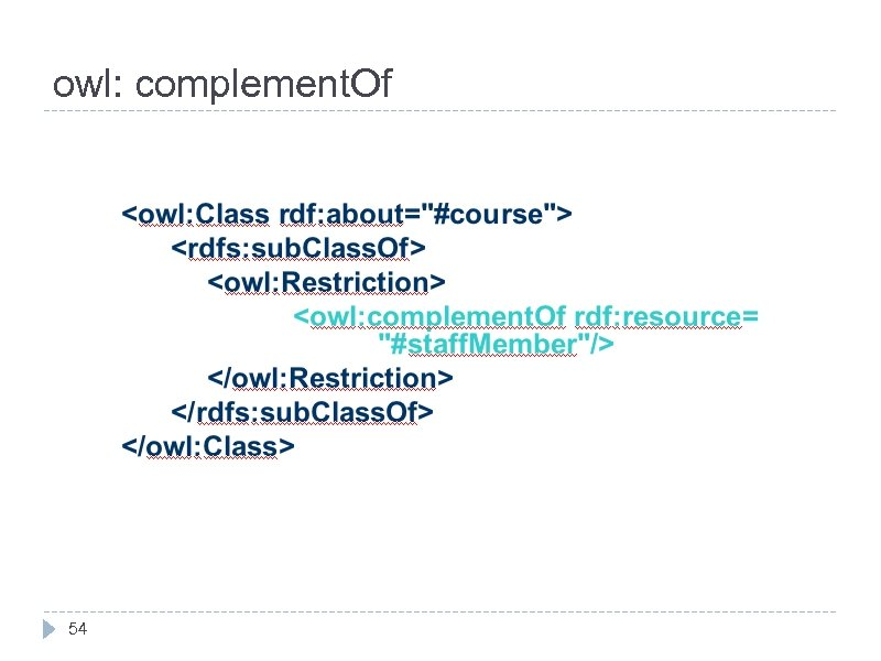 owl: complement. Of 54