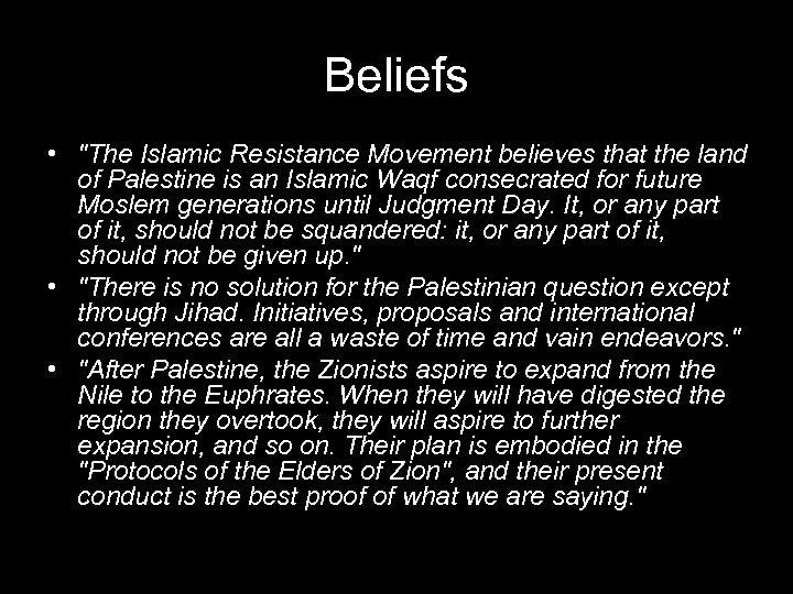 Beliefs •
