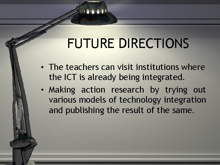 integrating ict in teaching and learning While all educators agree on the importance of this development, it can be challenging to integrate ict into one's teaching issues include access to equipment, demands from other activities and expectations, one's own computer phobias, lack of accessible help, and so on.